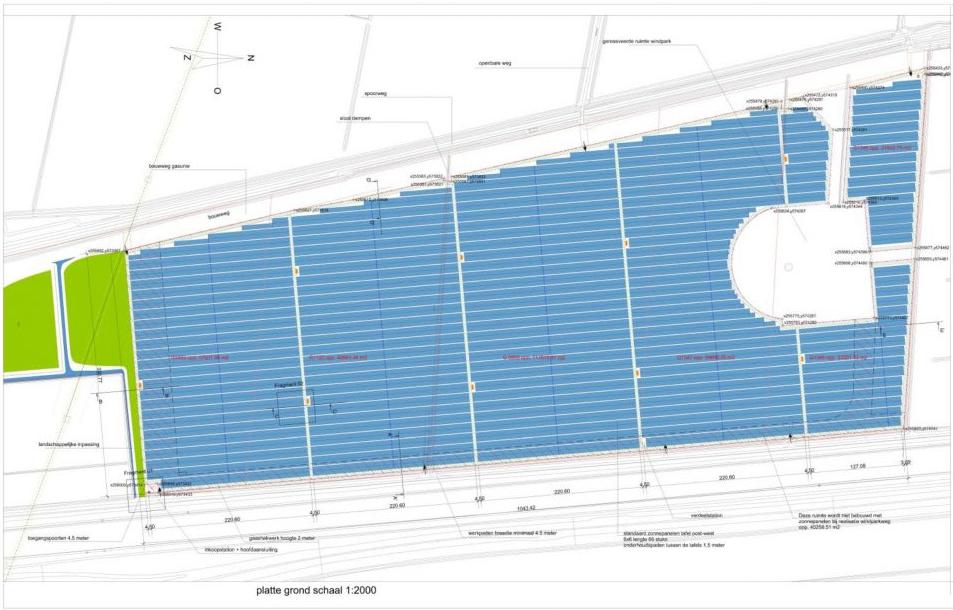 80 voetbalvelden vol zonnepanelen